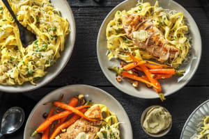 Truffled Chicken Over Tagliatelle Alfredo image