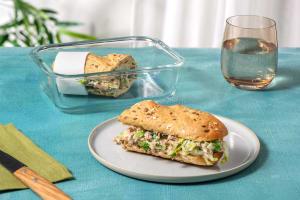 Tuna Mayo Sandwich with Baby Gem image