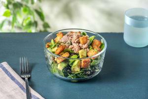 Tuna & Avocado Salad with Sugar Snap Peas and French Dressing image