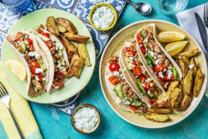 Turkey Greek Tacos image