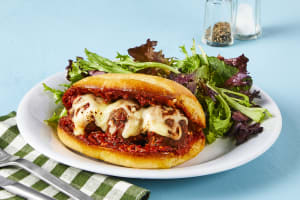 Turkey Meatball Parm Subs image