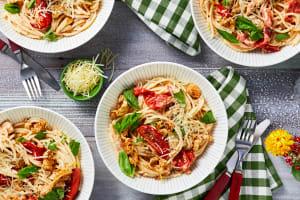 Tuscan Chicken Spaghetti image