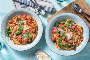 Tuscan Pork & Roasted Veggie Spaghetti image