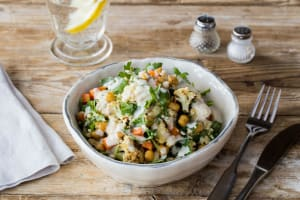 Crispy Chickpea and Roasted Cauliflower Salad image