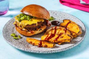 Veggie Poblano Cheddar Burger image