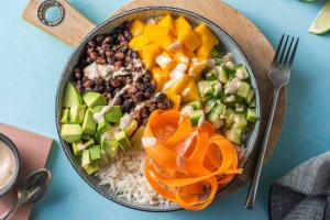 Vegetarisk poké bowl image