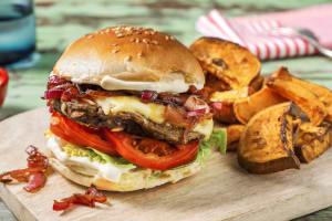 Veggie-Burger mit Pilz-Patty image