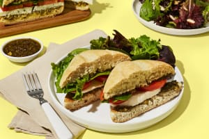 Pesto Caprese Sandwiches image