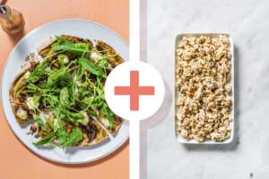 Platbroodpizza met kipgehakt als extra image