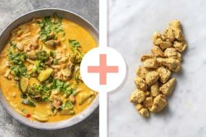 Aziatische noedelsoep met kipfilethaasjes als extra image