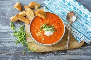 Velouté de tomates et de poivron à l'estragon image