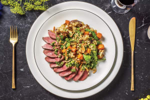 Venison Steak & Chermoula Veggie Israeli Couscous image