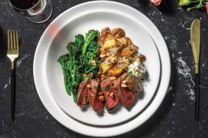 Venison Steak & Parmesan Mushroom Potatoes image