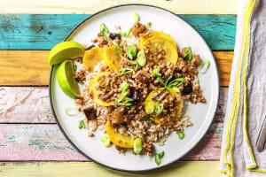 Pork, Eggplant, and Squash Stir-Fry image