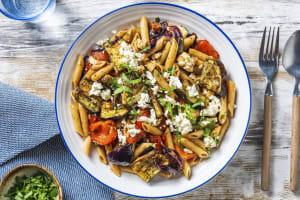 Warm Mediterranean Vegetable and Chorizo Pasta Salad image