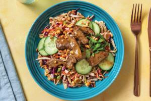 Warm Vietnamese Beef Noodle Salad with Peanuts image