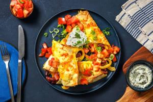 Weiße Enchiladas mit Kidneybohnen image