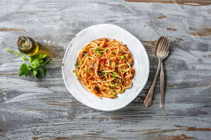 Eggplant and Sun-Dried Tomato Linguine image