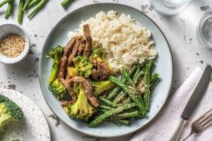 Wok asiatique aux brocolis & boeuf sauté image