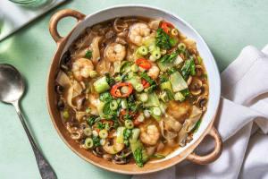 Wonton Shrimp Noodle Soup image