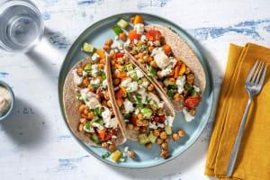 Wraps aux pois chiches, carotte & feta image