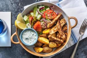 Würziges Gyros mit griechischem Salat image