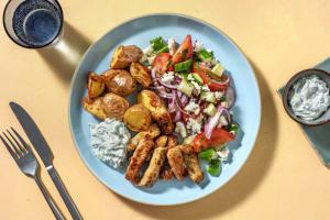 Gyros mit griechischem Salat & Joghurt-Dill-Dip image