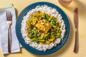Yellow Cod Thai Curry with Lime Rice image