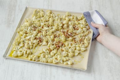 Roast the cauliflower in the oven