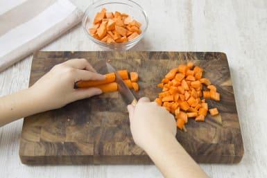 Zubereitung der Karotten