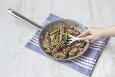 Cook steak mixture