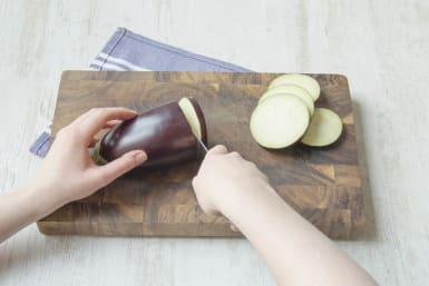 Slice the eggplant