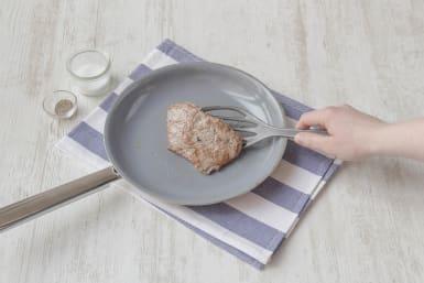 Cook steak for 2-3 minutes per side
