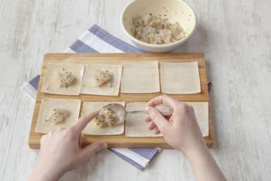 Fill the dumplings
