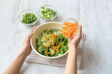 Combine all vegetables