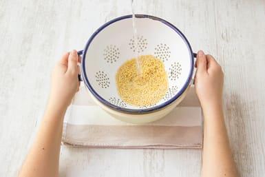 Rinse the pearl barley