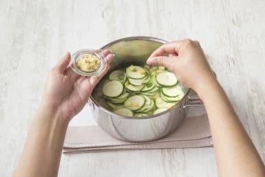 Laat zachtjes 15 minuten koken