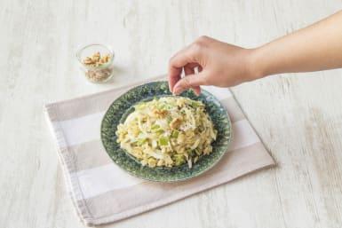 Ganeer het gerecht met grana padano