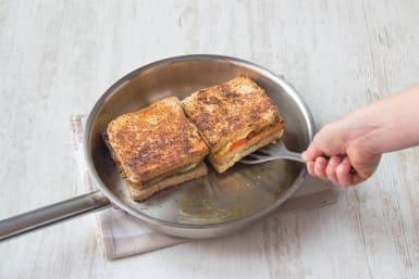 Sandwiches anbraten
