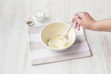 Mix mayonnaise with lemon