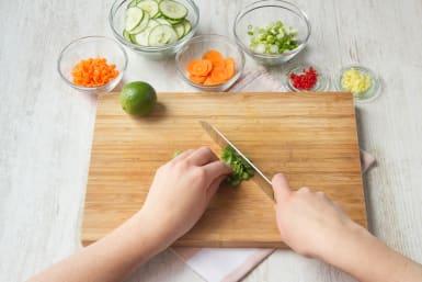 snijd de ingrediënten klein