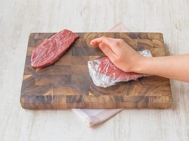 Fleisch flacher drücken