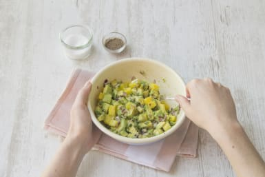 Make the Pineapple-Avocado Salsa