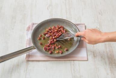 Cook the pancetta