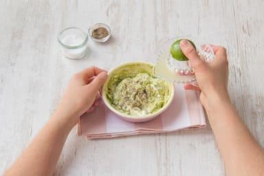 Make the avocado crema