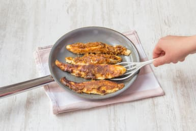 Cook the tilapia fillets