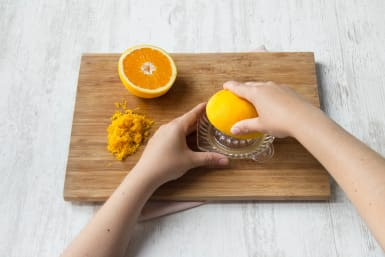 Orange entsaften