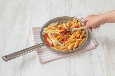 Add pasta to sauce