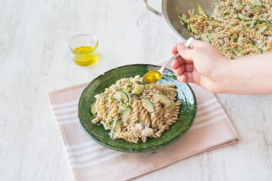 Besprenkel met extra vierge olijfolie