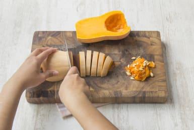 Cut up your butternut squash